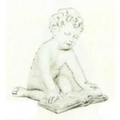 antiker Engel ließt Buch