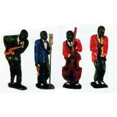 Musiker in Jazzgruppe mittel