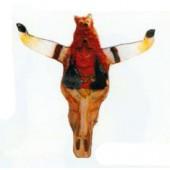Büffelschädel mit Indianerkopf Variante 3