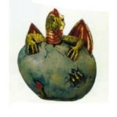 Drachenei mit geschlüpften Drachenbaby