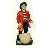 stehender Seemann mit Korb