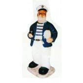 stehender Seemann blau weiß klein