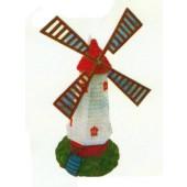 Windmühle rot weiß mittelgroß