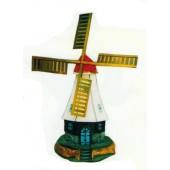 hübsche bewohnte Windmühle mit vielen Fenstern
