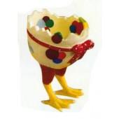 Bunte Eierschale als Eierkorb