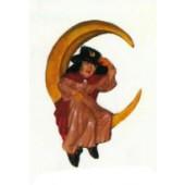 hängender Mondsichel mit Hexe