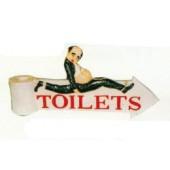 Schild zu den Toiletten
