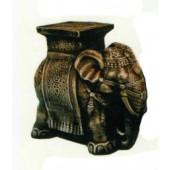 Elefant als Hocker dunkel