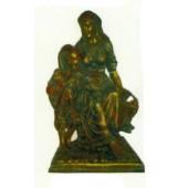 Goldene Frau mit Kind im Arm