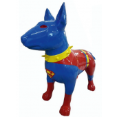 Hund Bullterrier Superman Kampfhund