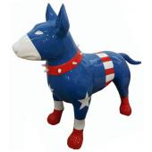 Hund Bullterrier Captain Amerika Kampfhund