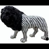 Löwe schwarz weiss gestreift