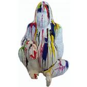 Gorilla sitzend mit Farbverlauf