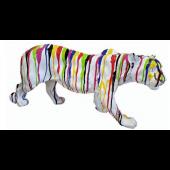Panther weiß mit Farbverlauf
