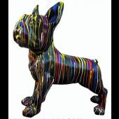 Hund französische Bulldogge schwarz mit Farbverlauf