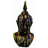 Buddhabüste schwarz mit Farbverlauf