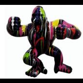 Gorilla aggro schwarz mit buntem Farbverlauf medium