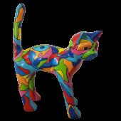 Bunt gefleckte Katze