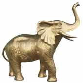 goldener Elefant Rüssel nach oben gerichtet