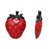 Halbe Erdbeere für die Wand