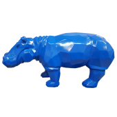 Polygonales Nilpferd Blau
