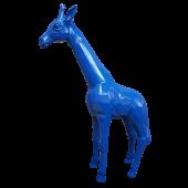 Polygonale Giraffe Blau