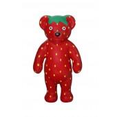 Stehender Teddy im Erdbeerdesign