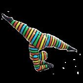 Designfigur mit gespreizten Beinen groß
