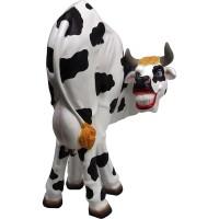 Lustige Kuh Kopf hinten