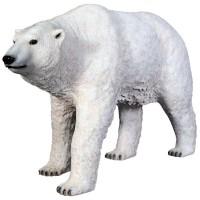 Polarbär laufend