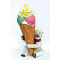 Kleiner Eisbär mit Eistüte 2 tlg.