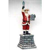Weihnachtsmann als Freiheitsstatue