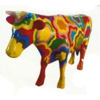 FlowerPower Kuh bunt lebensgroß