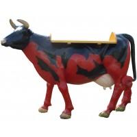 Kuh rot / schwarz  mit Ablagetisch