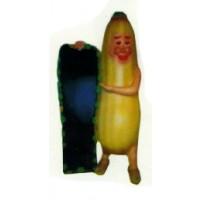 Maiskolben Figur mit Angebotstafel