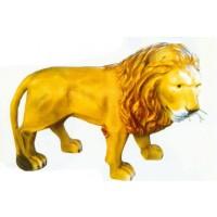 lebensgroßer Löwe mit Barthaaren