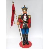 Nussknackerkönig mit Fahne