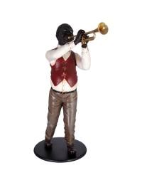 Neger als Trompetenspieler Jazz