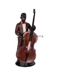 Neger als Bassspieler Jazz