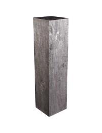 alte Holzsäule Silber