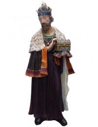 Balthasar stehend mit Truhe