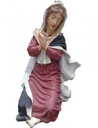 Maria hockend in Gebetshaltung