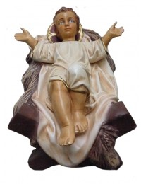 Jesuskind liegend in Krippe