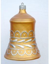 große Weihnachtskugel in Glockenform Gold