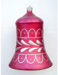 große Weihnachtskugel in Glockenform Rot