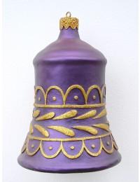 kleine Weihnachtskugel in Glockenform Lila
