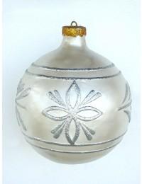 große Weihnachtskugel Silber-Silber