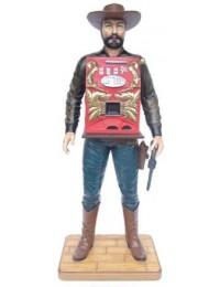 Cowboy mit Spielautomat