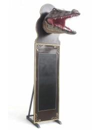 Krokodilkopf Angebotstafel