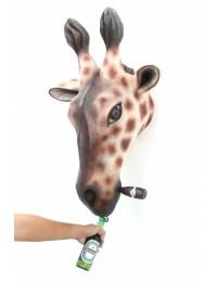 Giraffenkopf mit Zigarre Flaschenöffner